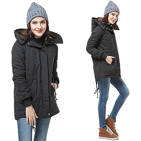 ZEARO Mujer Acolchado Gruesas Calientes Abrigo De Invierno Parka Con Capucha Abrigo