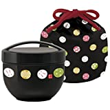 Temari rabbit drawstring caf with bowl lunch box (black) KPDN6 (japan import)