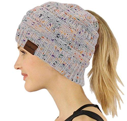 Knit Winter-schal (Chunky Cable Knit Slouchy Beanie, trendige Unisex, dicke weiche warme Winter Mütze Cap (Weiß))