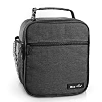 Insulated Lunch Box for Men/Women/Adults,Reusable Lunch Bag,Tough & Spacious Adult Lunchbox(AE-18654-DG)