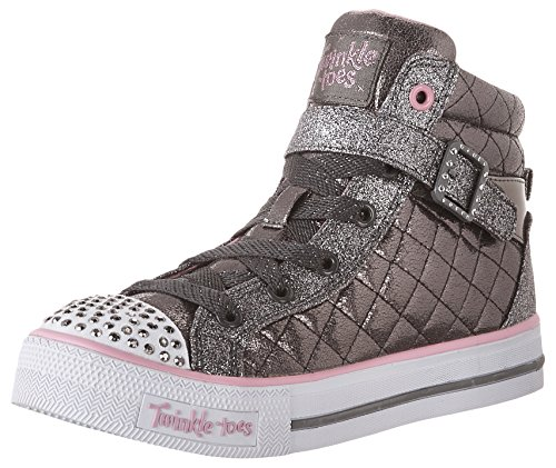 Skechers Girls Shuffles-Sweetheart Sole Hi-Top Sneakers, Grey (Gun), 11 Child UK 28...
