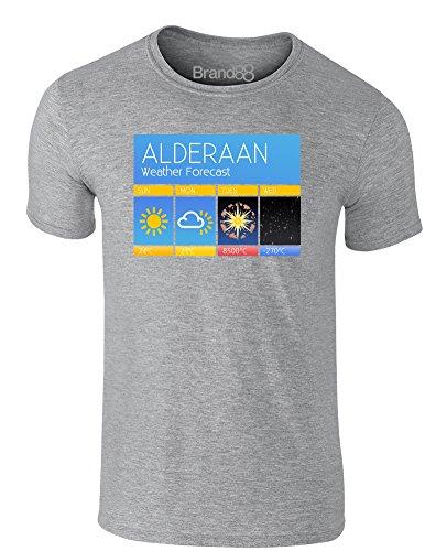 Brand88 - Superlaser Forecast, Erwachsene Gedrucktes T-Shirt Grau