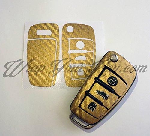 Oro Wrap in fibra di carbonio chiave di telecomando di Audi A1A3A4A5A6A8TT Q3Q5Q7