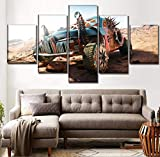 Decor Living Room Or Bedroom Framework 5 Pezzi Mad Max Fury Road Dipinti di Gioco su Tela Tipo di Stampa Poster Wall Art Picture