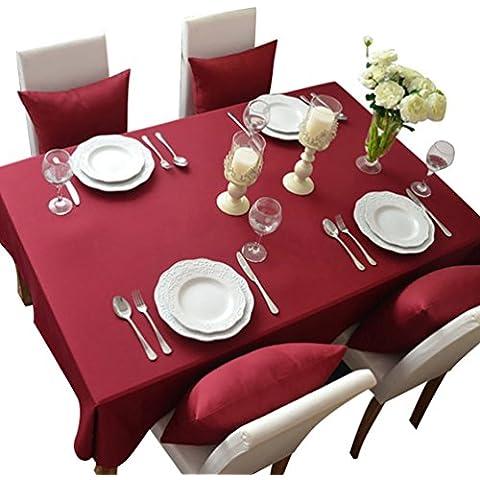 NiSeng Manteles para mesa rectangular y cuadrados Mantel Antimanchas para hosteleria de poliester Mantel moderno Decoracion de hogar Claret 140x140