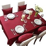 NiSeng Manteles para mesa rectangular y cuadrados Mantel Antimanchas para hosteleria de poliester Mantel moderno Decoracion de hogar Claret 140x140 cm