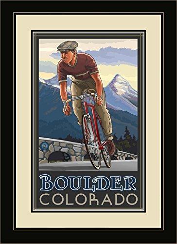 Northwest Art Mall pal-1307mfgdm DHB Boulder Colorado Downhill Biker blau gerahmt Art Wand von Künstler Paul A. lanquist, 13von 40,6cm