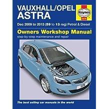 Vauxhall/Opel Astra (Dec 09 - 13) Haynes Repair Manual