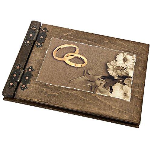 Hochzeitsgästebuch Gästebuch zur Hochzeit Holzalben sind aussergewöhnliche Geschenke