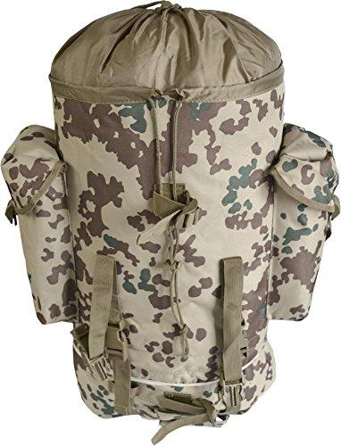 Kampfrucksack, ideal zum Wandern, großes Fassungsvermögen 65 Liter, viele Taschen tropentarn