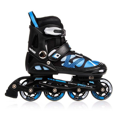 METEOR® AREA Patines en Línea   Niños   Mujer   Hombre   Inline Skates   ABEC7 de carbono   Tamaños ajustable   30-33 / 34-37 / 38-41, Tamaño:L (38-41);Color:azul