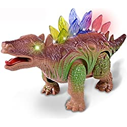 Juguetes educativos,Internet Encender Dinosaurio Robot electrónico para caminar Roaring Interactive Dino Toy (Marrón)