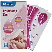 WONDFO 20x Schwangerschaft Früherkennung Urinteststreifen, Kit von 20Tests Erste Antwort (Schwangerschaftstest... preisvergleich bei billige-tabletten.eu