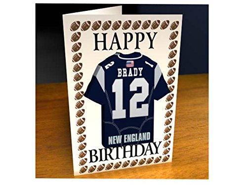 NFL National Football League Geburtstagskarte, mit Trikot-Kühlschrank-Magnet New England Patriots NFL Fridge Magnet Card A5 Fridge Magnet Birthday Card