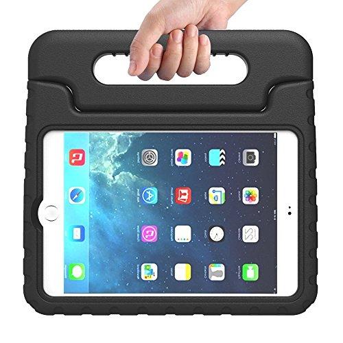 Preisvergleich Produktbild Kinder Hülle für iPad Mini 4, CAM-ULATA EVA Stoßfest Leichtgewicht Kinderfreundlich Griff Schutzhülle Standhülle Für iPad Mini 4 2015 Tablette, Schwarz