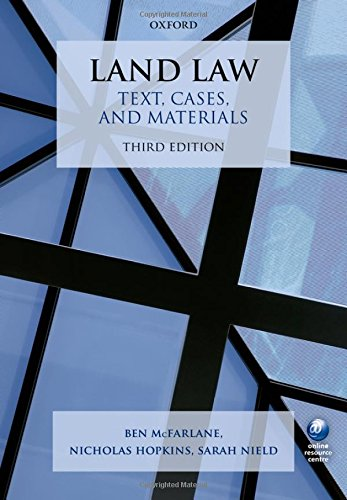 Land Law Text, Cases, and Materials 3/e