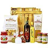 Geschenkset Pisa Großer Geschenkkorb mit Holzkiste, Olivenöl, italienischen Spezialitäten