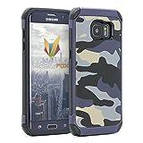 mobilefox® Camouflage Handy Schutzhülle Outdoor Case Army Cover für Samsung Galaxy S7 Edge Blau