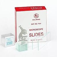 100 pre-limpiar Set de microscopio diapositivas y 100 Protector de pantalla de cristal cuadrado diseño de 22 x 22 mm