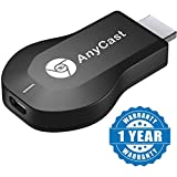 #7: Buffeer Anycast Chromecast M2 Plus Wifi Wireless Display Dongle for Mirroring , Miracast, Screen Mirroring, Airplay, DLNA , Youtube , Netflix , Spotify Anycast HDMI Dongle for Android /IOS Devices(Colour-Black)