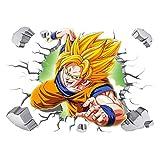 JUNMAO Dragon Ball Z Son Goku Wandtattoo/Pinupbild/Beschriftung/Pad einfügen/Tapete/Tapezieren (-1)