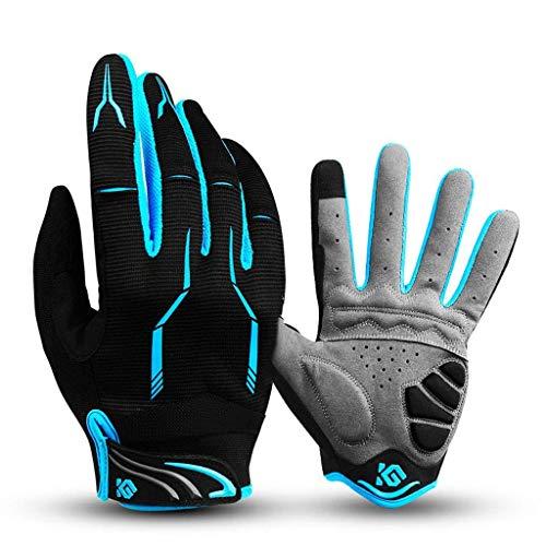 Asdlg guanti full finger bike unisex touch screen outdoor guanti sportivi antiurto, guanti anti-scivolo per ciclismo, equitazione, sci, pesca, escursionismo, arrampicata