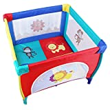 WYQ Tragbarer Spielplatz, Playards für Baby, Spielplatz für Babyzaun 100 × 100x76 cm (Grau, Grün, 4 Farben) Laufgitter Ställe (Farbe : 4 Colors, größe : 100×100x76cm)