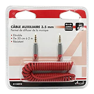 arcoll 12095Kabel AUX 3,5mm ausziehbar für Telefon/Tablet Multi Farbe