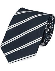 Krawatte von Fabio Farini gestreift in blau siber-grau
