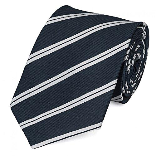 Krawatte von Fabio Farini gestreift in Blau Silber-Grau