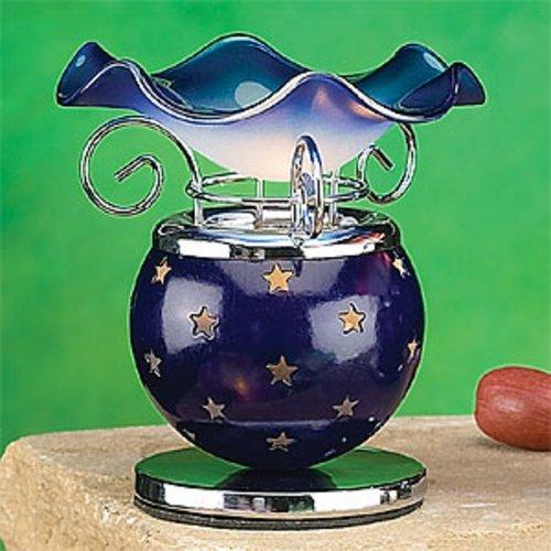 Blau Aromatherapie (StealStreet ss-a-58811Metall Duftöl Aroma Brenner Wärmer Aromatherapie, blau Sterne)