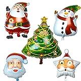 Best Gardeningwill decoraciones de Navidad - Juego de 5colores surtidos forma globo de aluminio Review