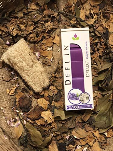 Deflin ✔ Lavendel Seifen Natur -%100 Handgemacht - aus Olivenöl und Lorbeeröl ''5 Stück 750 Gr'' -