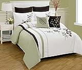 Bella bed cover(white,green, 228.6 cm*25...