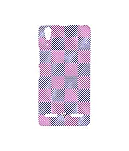 Vogueshell Check Pattern Printed Symmetry PRO Series Hard Back Case for Lenovo A6000