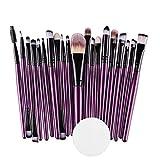Winsummer Make-up-Pinsel-Set, 20 Stück, hochwertiges Kosmetikpinsel-Set für Grundierung, Rouge, Concealer, Lidschatten, Synthetikfasern, Make-up-Pinsel-Set Free #2