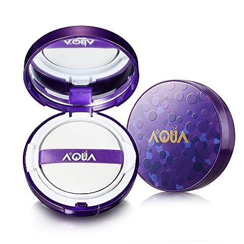 AQUA + Fond de teint Aurora Moisturizing Air Cushion avec de l'acide hyaluronique actif (crème CC)