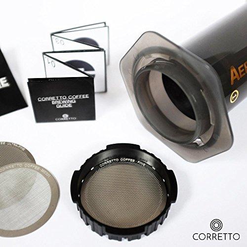 Pro AeroPress Wiederverwendbare Filter-Feines, extrem und Mesh-PREMIUM Edelstahl-Brewing Guide enthalten, edelstahl, edelstahl, 1 x ULTRA-FINE