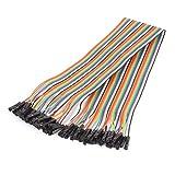 sourcingmap® 40cm 40Pin 40Weg F/F Verbinder IDC Flach Jumper Kabel Flachbandkabel Flachkabel