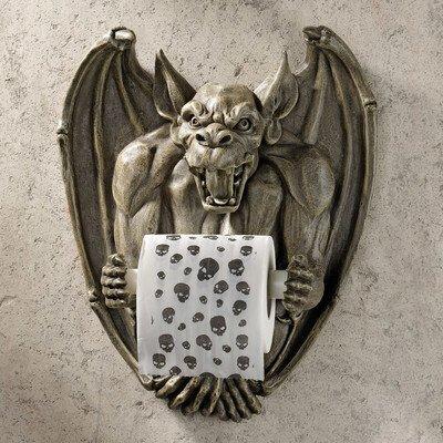 Design Toscano Flush, der Gargoyle, Toilettenpapierhalter
