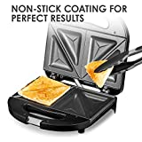 BMS LIFESTYLE Melissa Sandwich Maker, Sandwich Toaster 700W with Non-Stick Coating, LED Indicator Lights & Cool Touch Handtag