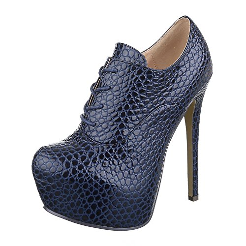 Ital-Design , Bottes Chelsea femme Bleu