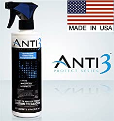 Anti3 Protect Series Disinfectant Equipment Deodorizing Spray, 16 Ounce