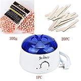 Bovake Haarentfernung Wachsbohnen , Haarentfernung Bean Abwischen Sticks Hot Wax-Wärmer-Heizung Pot Enthaarungsmittel Set (Colour D)