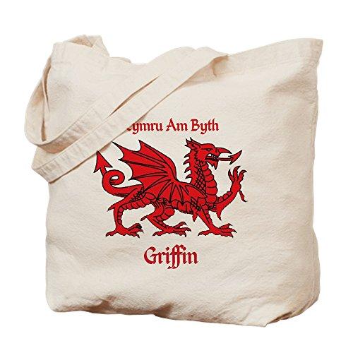 CafePress Design unico Griffin-Borsa con drago rosso gallese, misura...