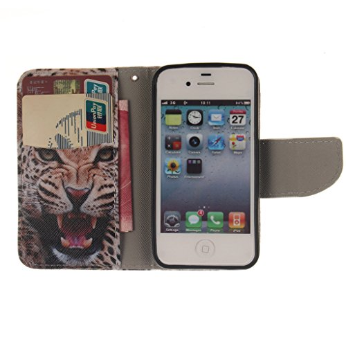Nutbro [iPhone 4S] iPhone 4S Leather, iPhone 4S Leather Wallet Case, iPhone 4 Case,iPhone 4 Cases,Flip Wallet Leather Case Cover for iPhone 4S ZZ-iPhone-4S-49