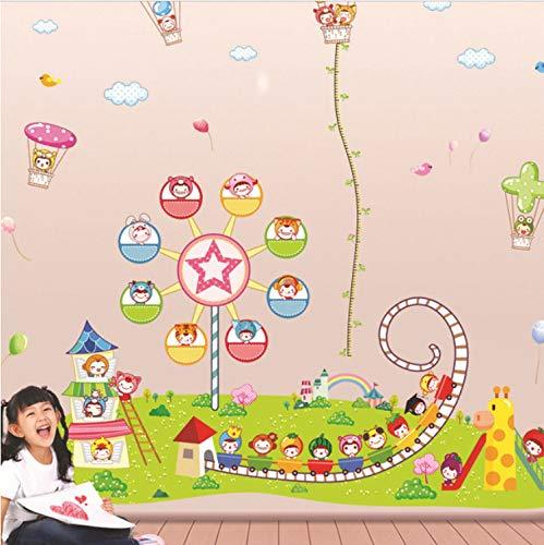 Wandaufkleber Cartoon Children's Park Ferris Wheel Vinyl Roller Coaster Kids Baby Room Nursery Decoration Art DIY Large 190 * 200Cm