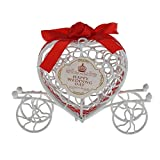 Dylandy Candy box Love Heart Candy Gift case Hollow Out Pumpkin Carriage box dolci Chocolate Candy box wedding Decoration (rosso), Red, 10*12*3.5cm