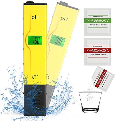 pH Messgerät Wasser mit LCD-Display, pH Wert Meter für Pools, Monitor für Aquarium und Pool Wasser, tragbarer Tester/Messer für Aquarium (Ph-bier)