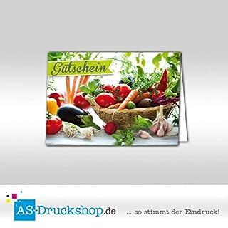 Gutschein Hofladen - Korb / 25 Stück/DIN A6